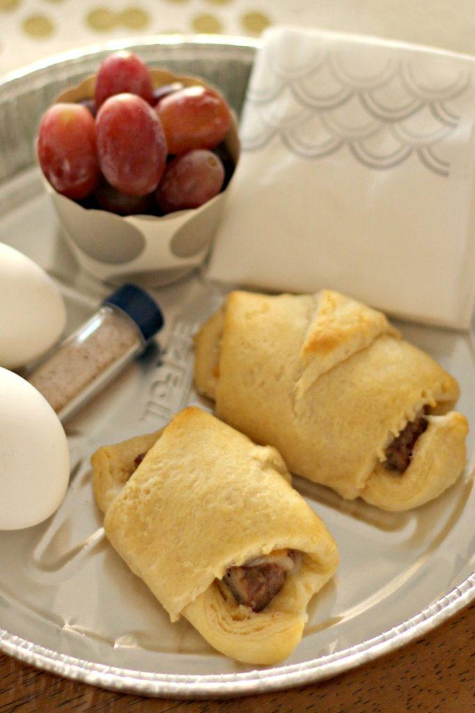 Sausage Cheese Crescent Sandwiches
