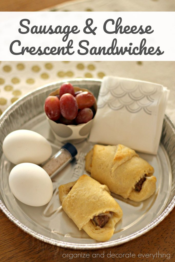 Sausage and Cheese Sandwiches for a quick and delicious breakfast during the week