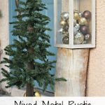 Mixed Metal Rustic Christmas Porch