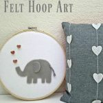15 minute Felt Hoop Art