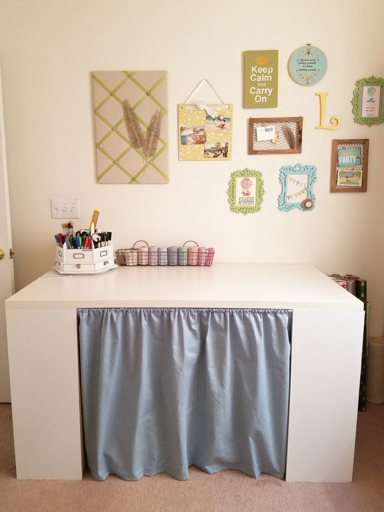 Craft Table curtain