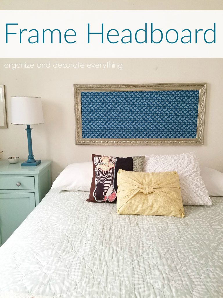 DIY Large Frame Headboard for Queen size bed
