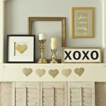 Love One Another Valentine's Day Mantel