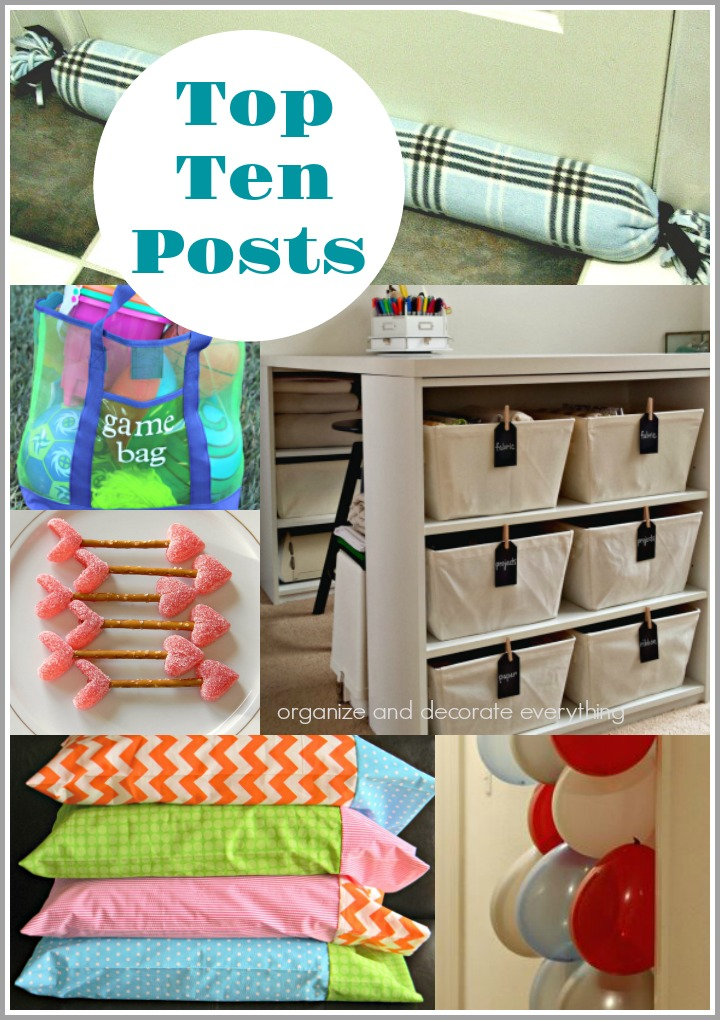 Top 10 Posts from Organize and Decorate Everything