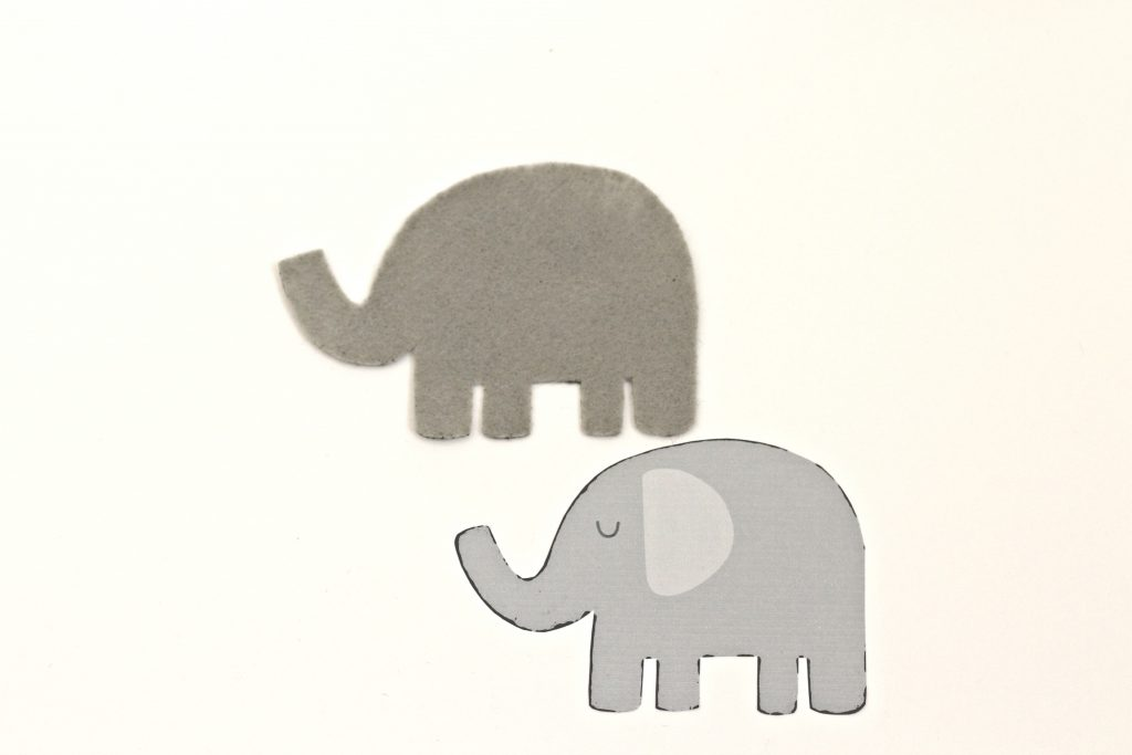felt elephant cut out