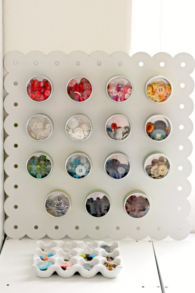 Craft Room button storage