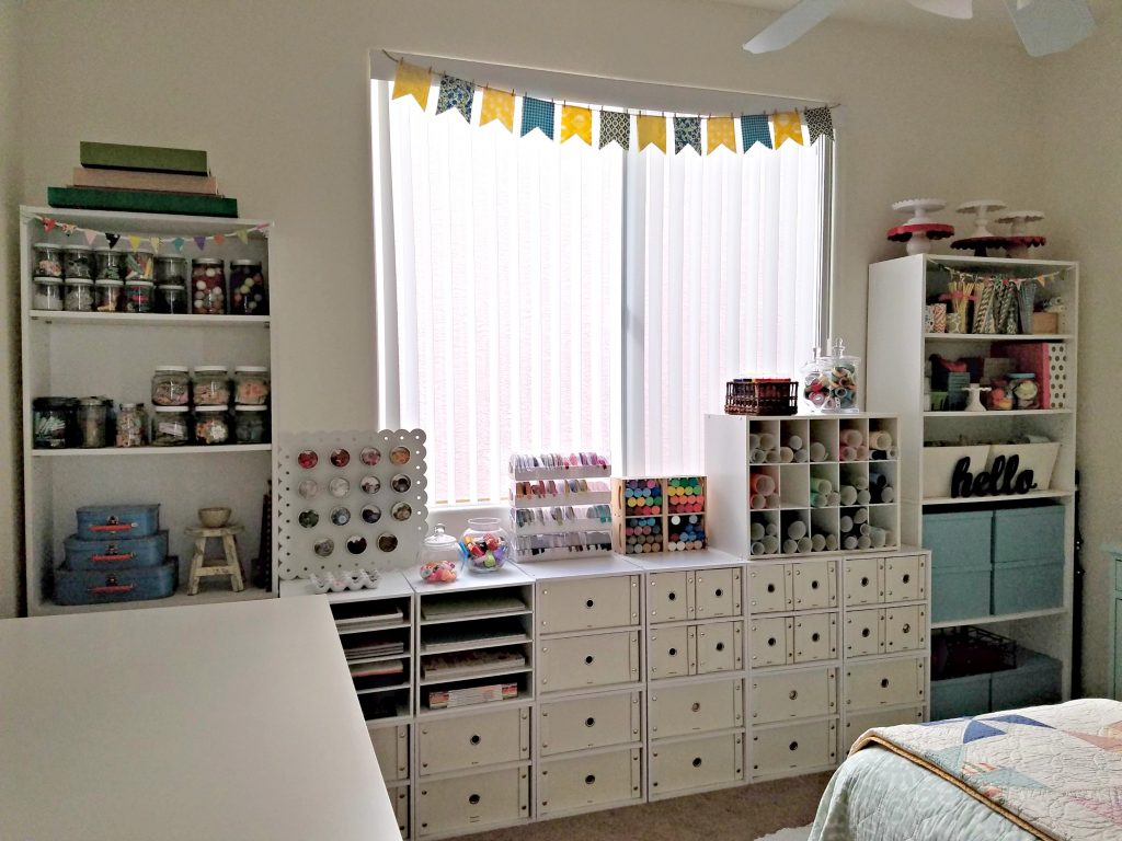 Craft Room cabinet storage