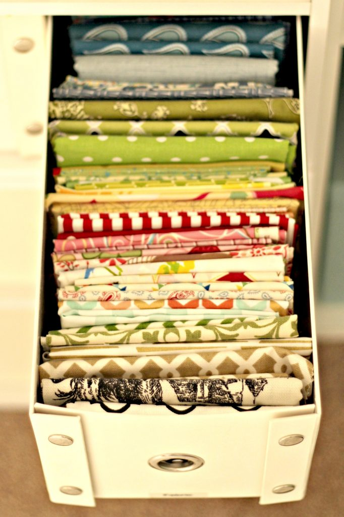 craft room fabric drawer