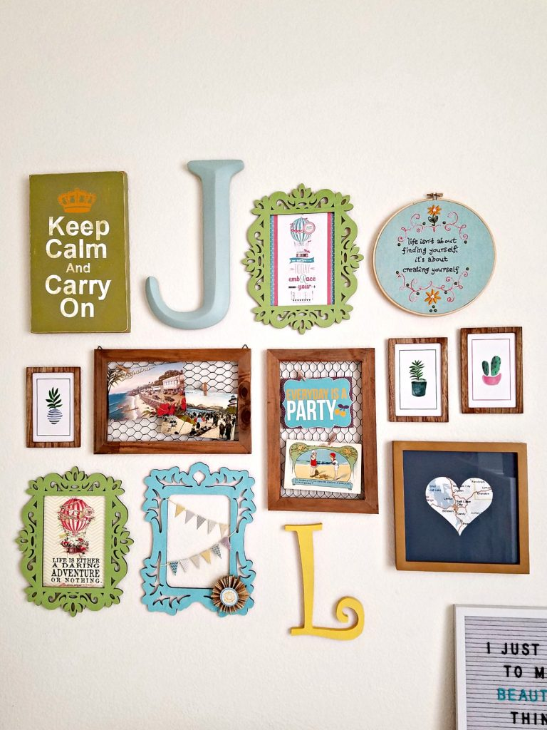 Craft Room Gallery Wall