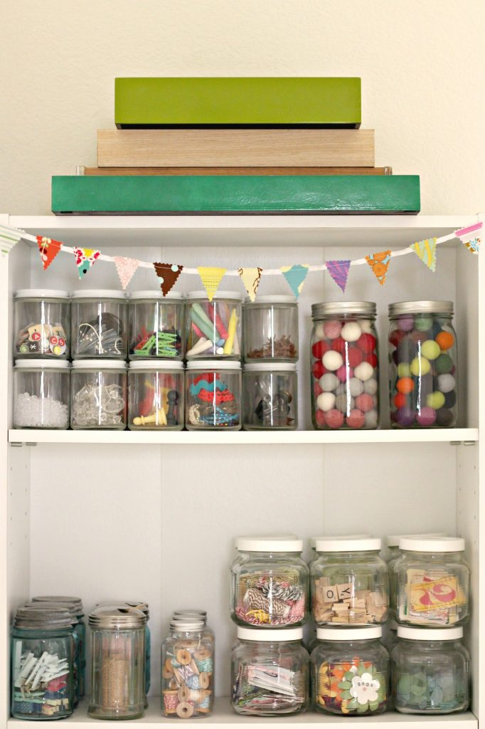 Craft Room jar storage