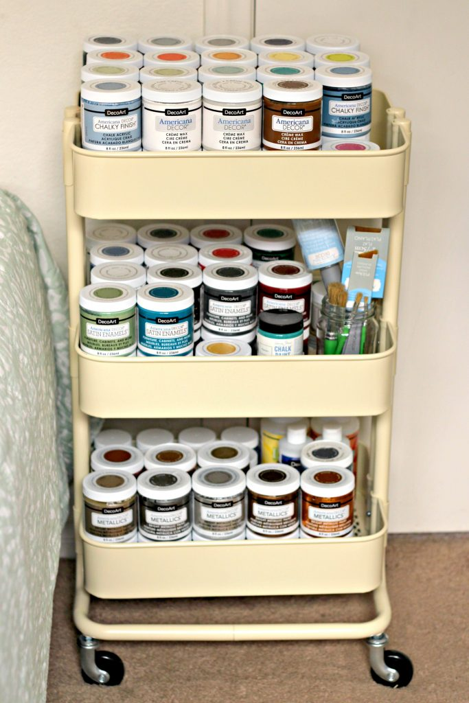 craft room paint storage cart