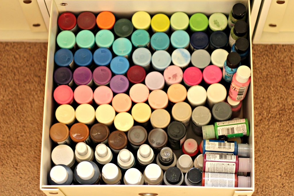 craft room paint supplies