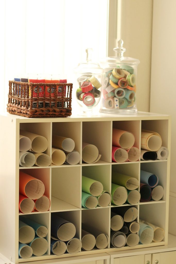 craft room vinyl storage