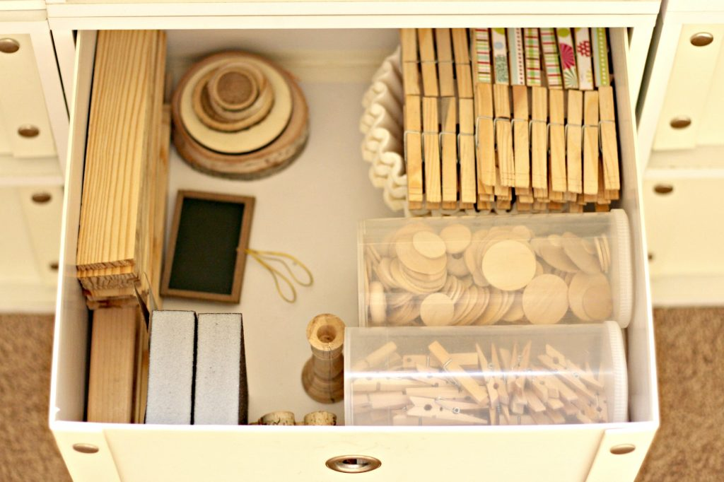 craft room wood storage