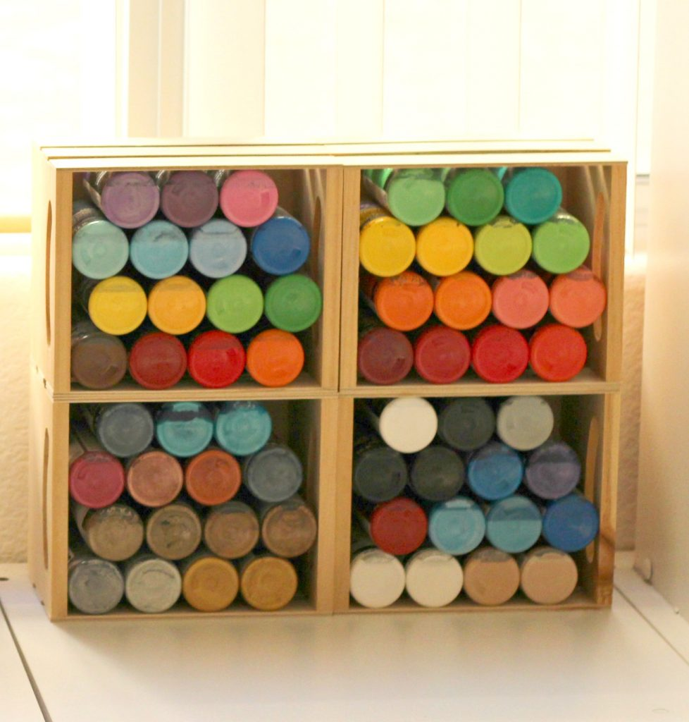 Craft room paint storage