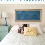 DIY Frame Headboard