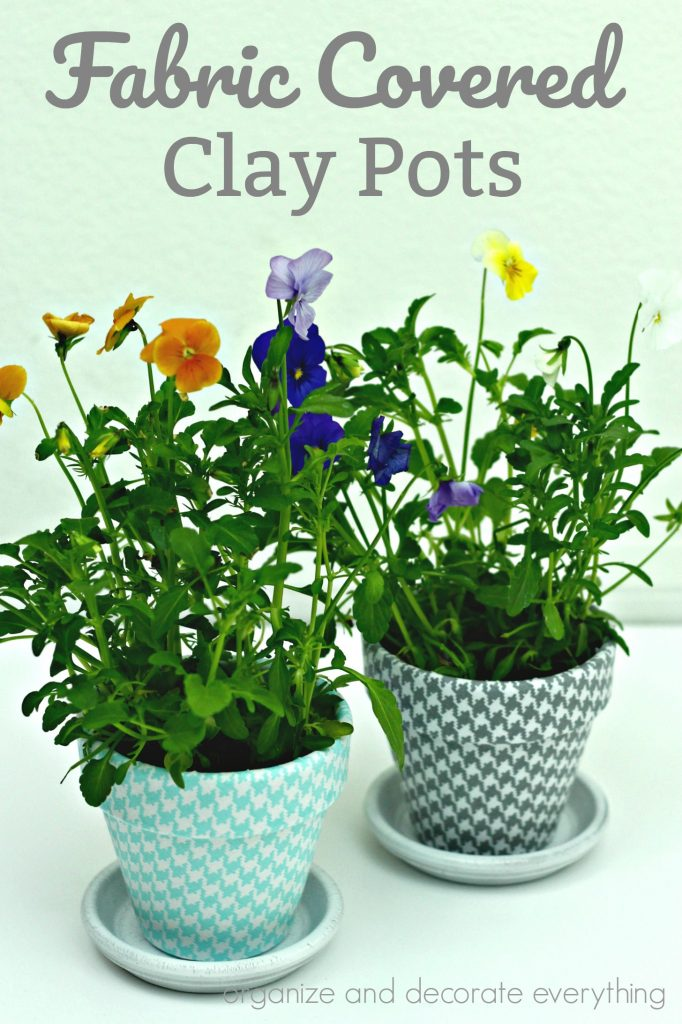 Decorative Fabric Covered Clay Pots