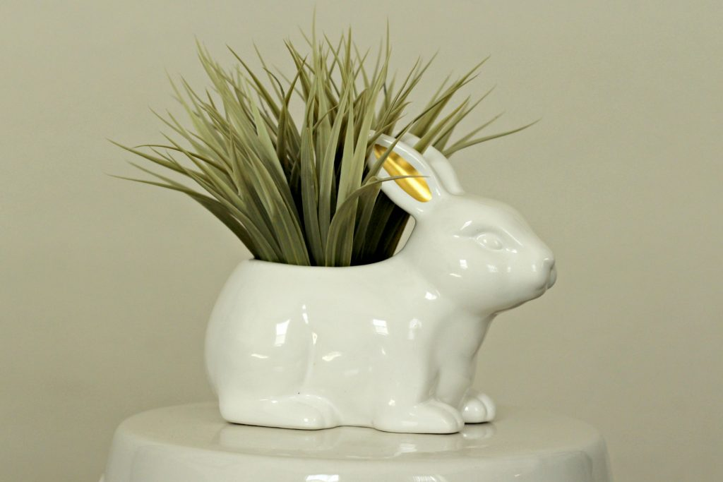 Easter decor bunny planter