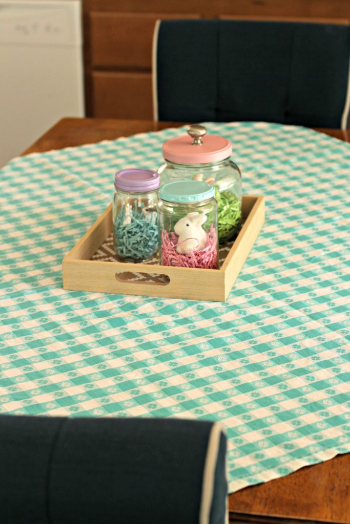 Easter decor dining table