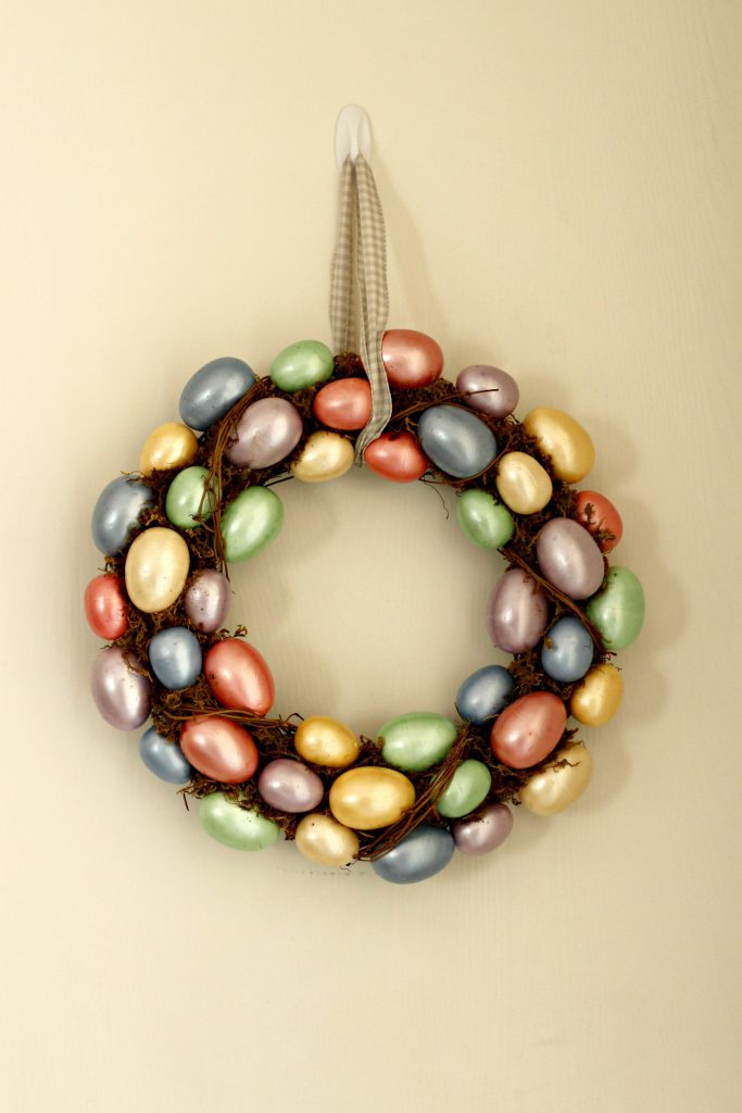 Easter decor egg wreath