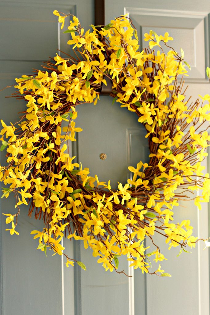 Easter decor front door wreath