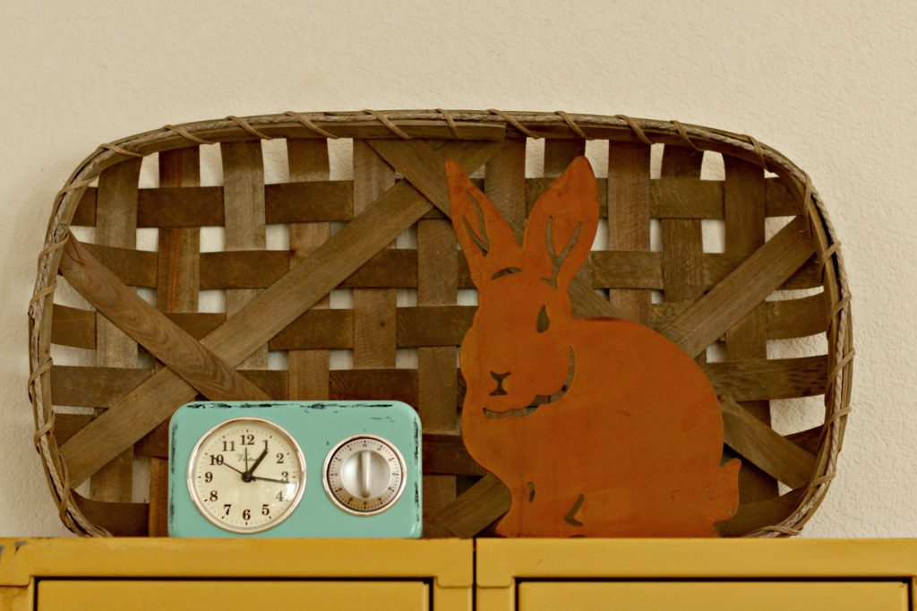 Easter decor metal bunny