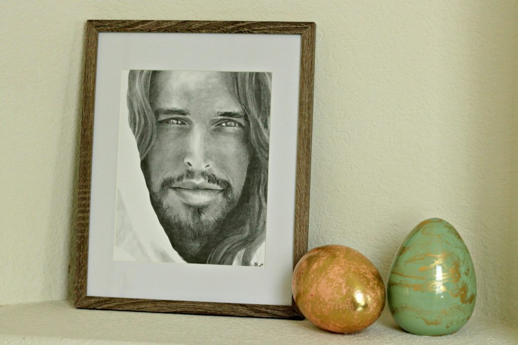 Easter decor picture of Christ