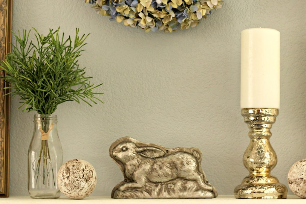 Easter mantel display
