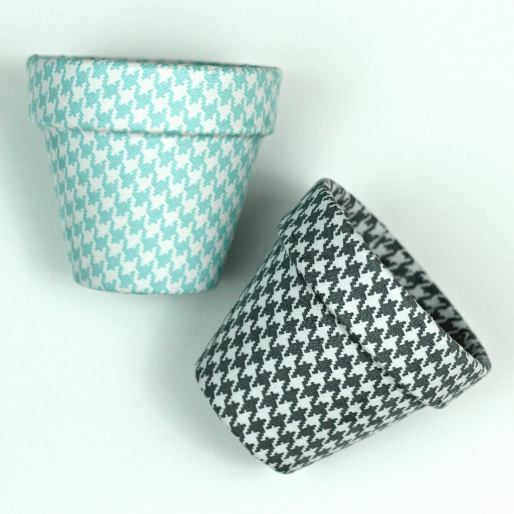 Fabric Covered Clay Pots for Spring