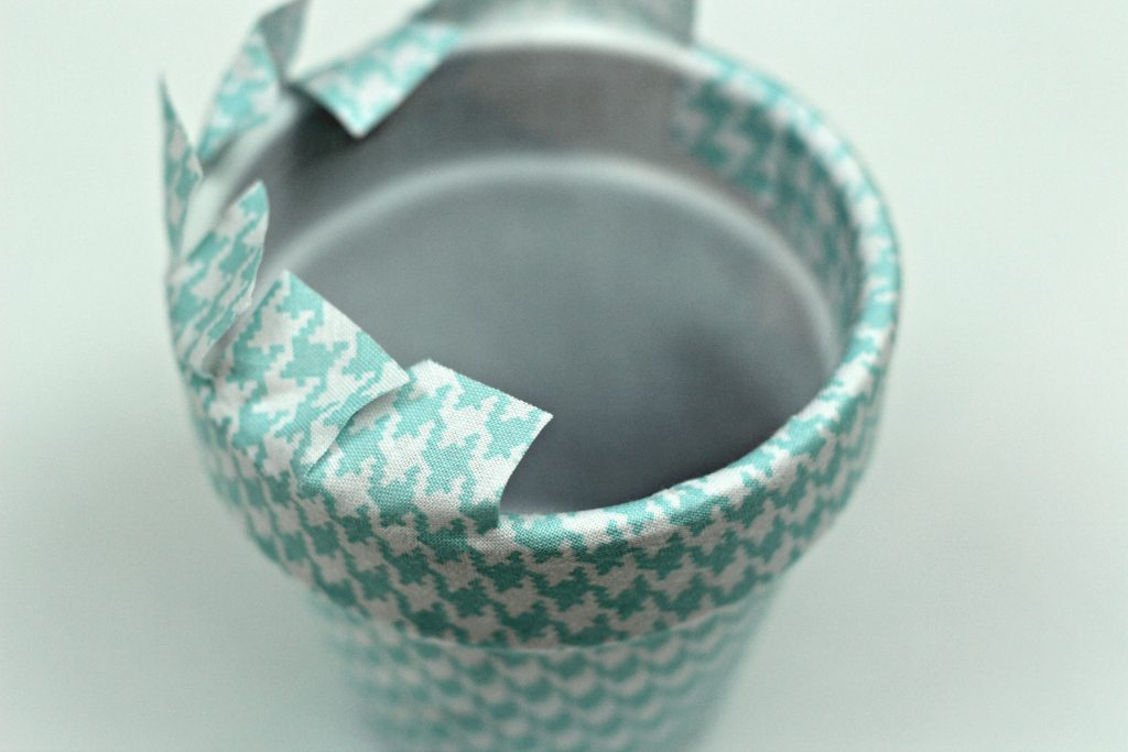 Fabric Covered Clay Pots top
