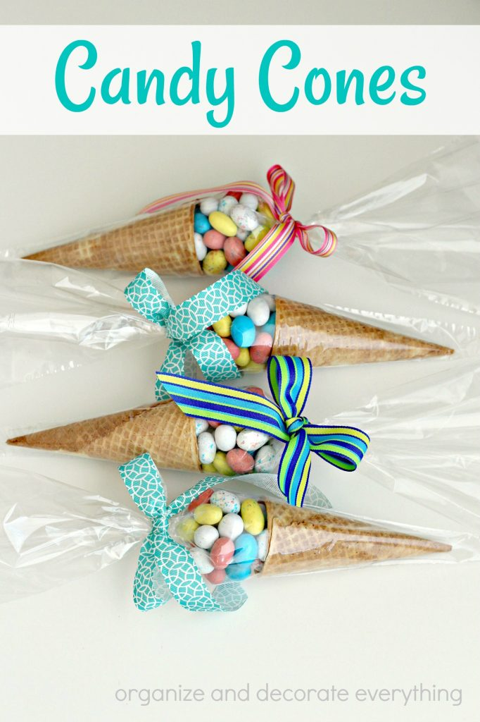 Make easy Candy Cones for Easter or a Spring Party
