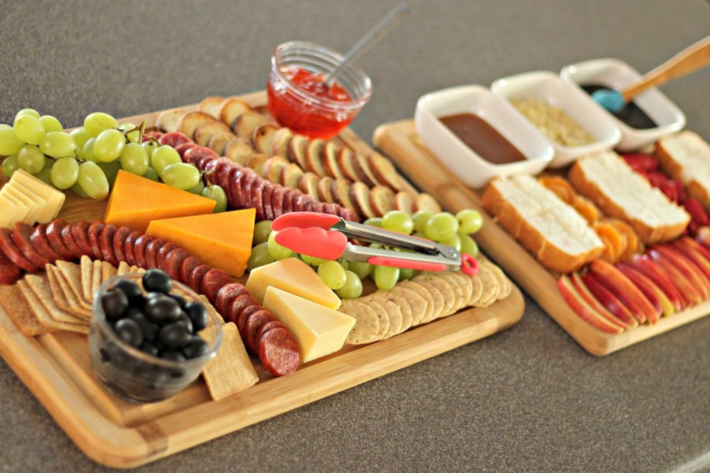 appetizer and dessert trays