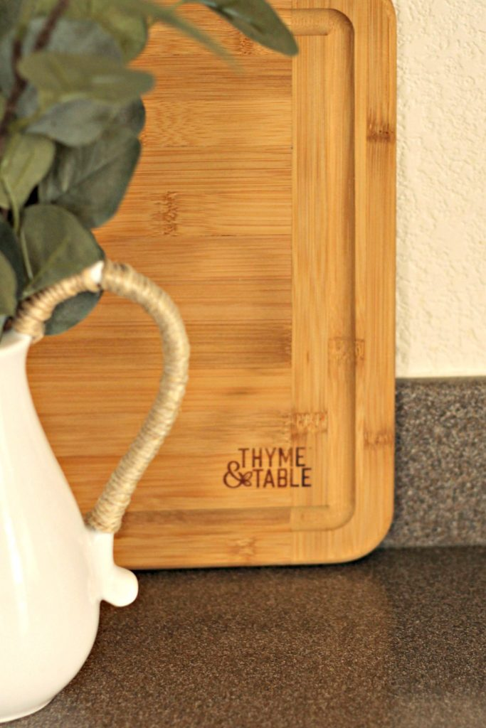 Thyme and Table cutting board