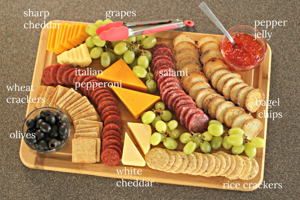 cheese and meal tray