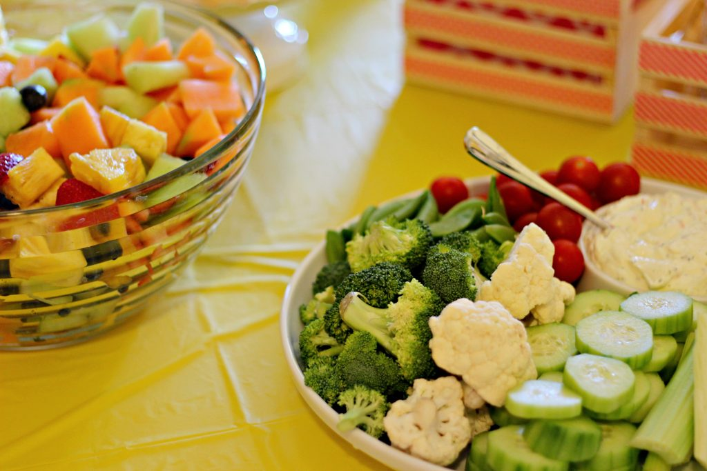 graduation party fruit and veggies