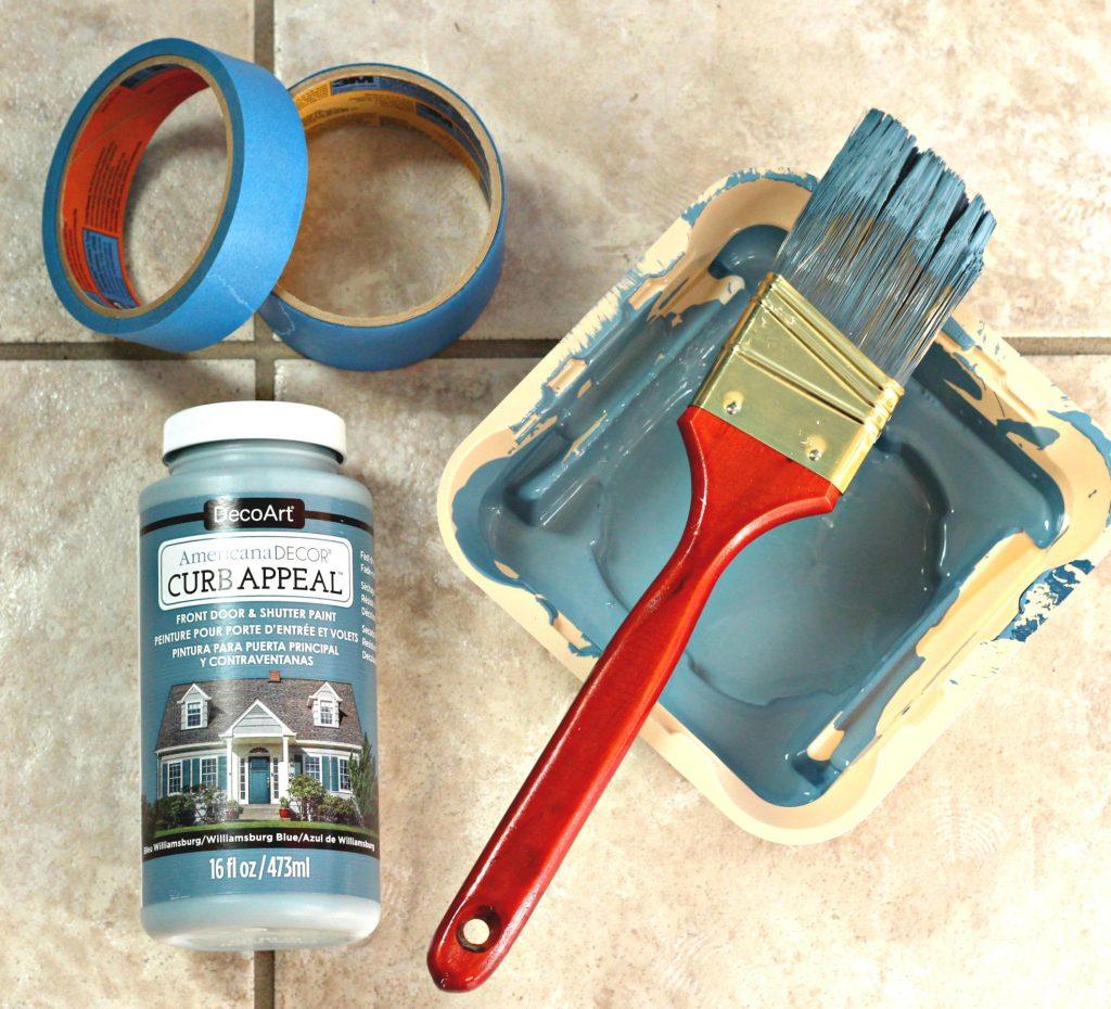 How to Paint a Front Door supplies