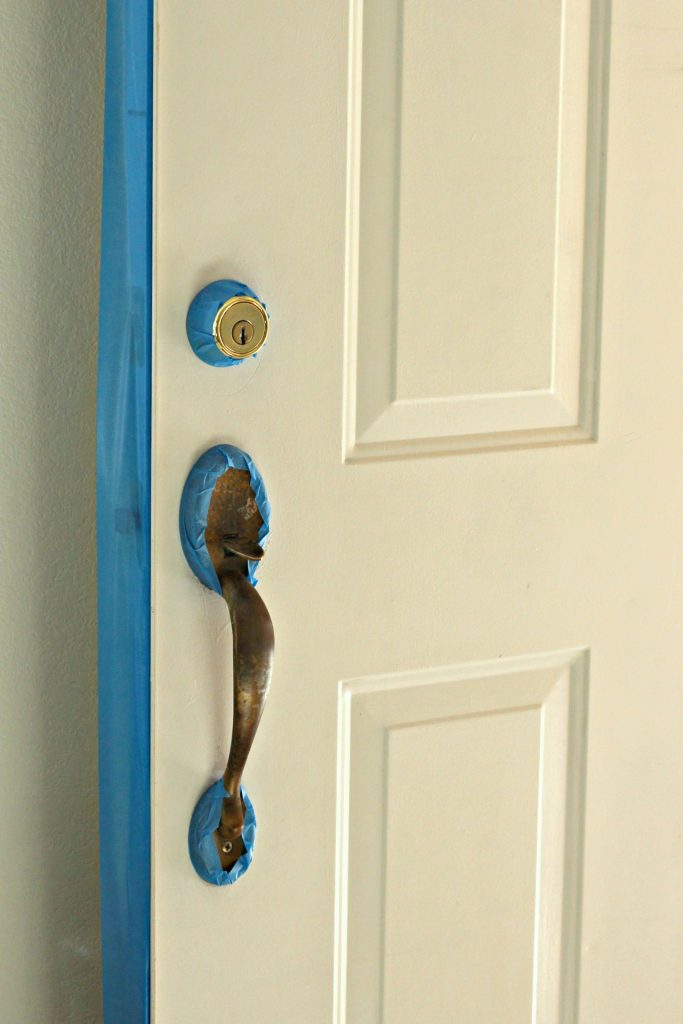 How to Paint a Front Door taping