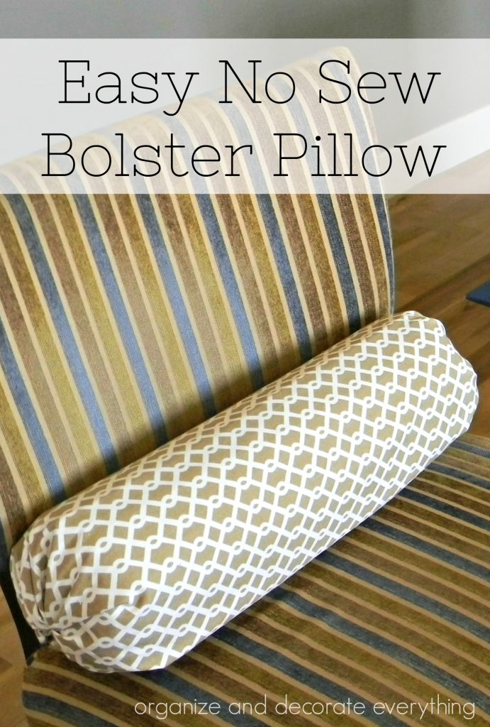 No Sew Bolster Pillow Organize And Decorate Everything Amazing Sew Bolster Pillow Cover