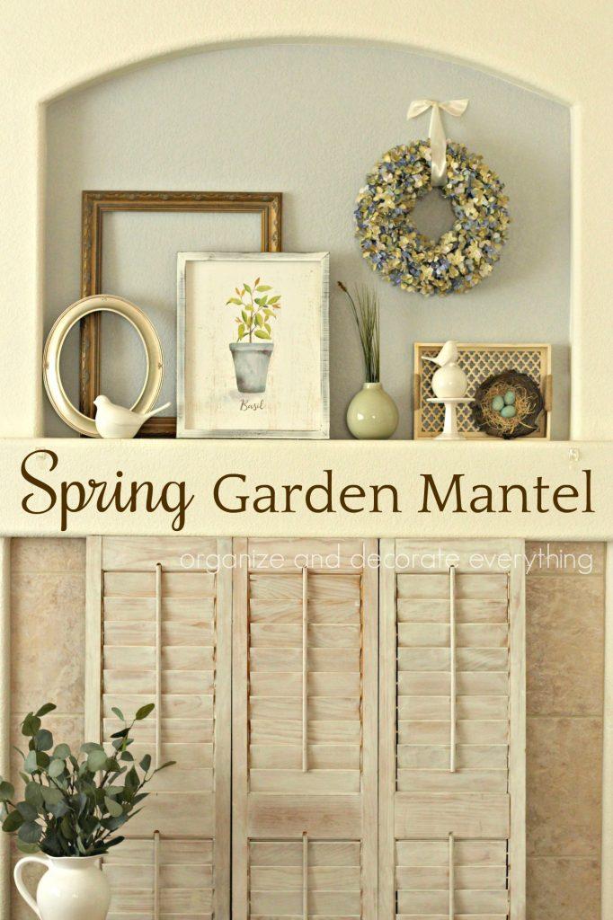 Spring Garden Mantel display