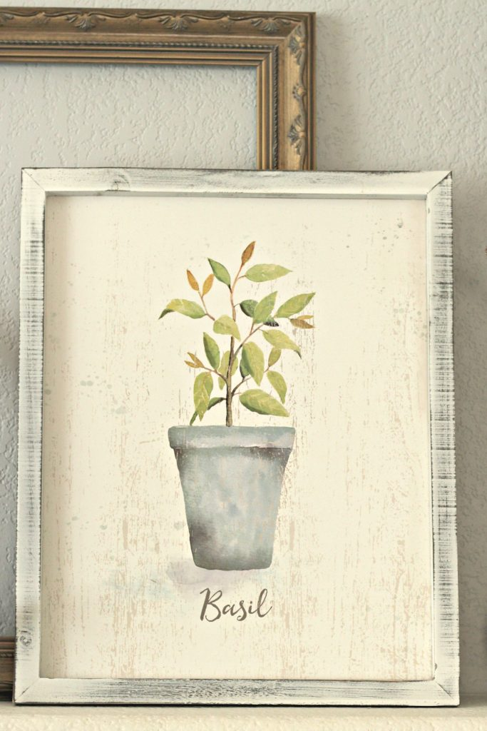 Spring garden mantel painting