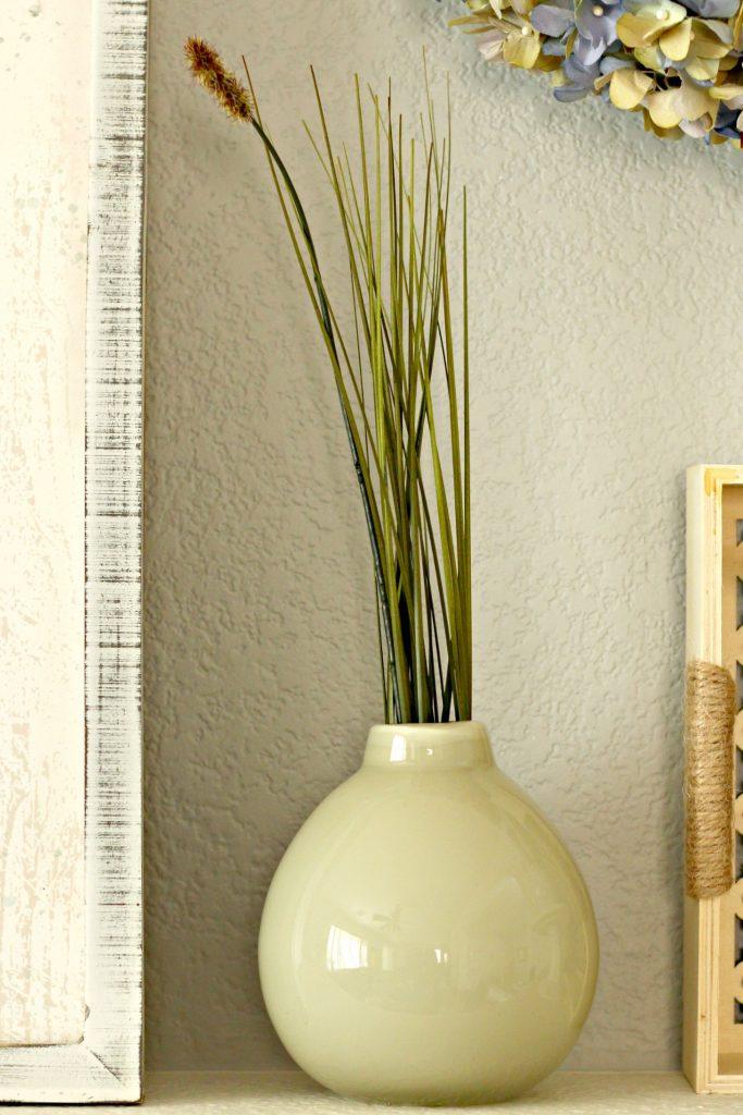 Spring garden mantel vase
