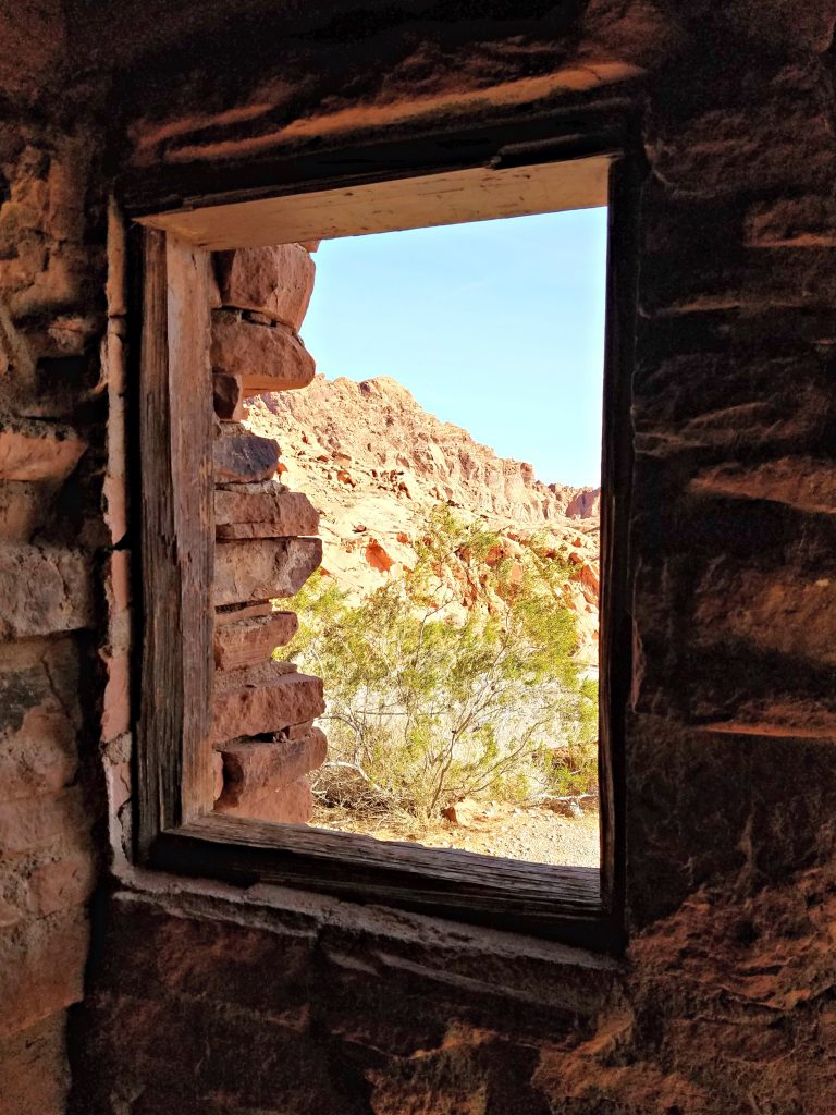 Valley of Fire the cabins window