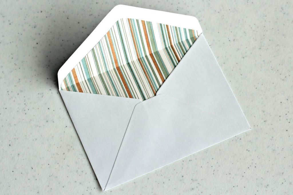 envelope liner folded