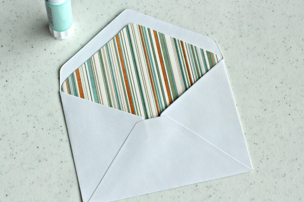 envelope liner inserted