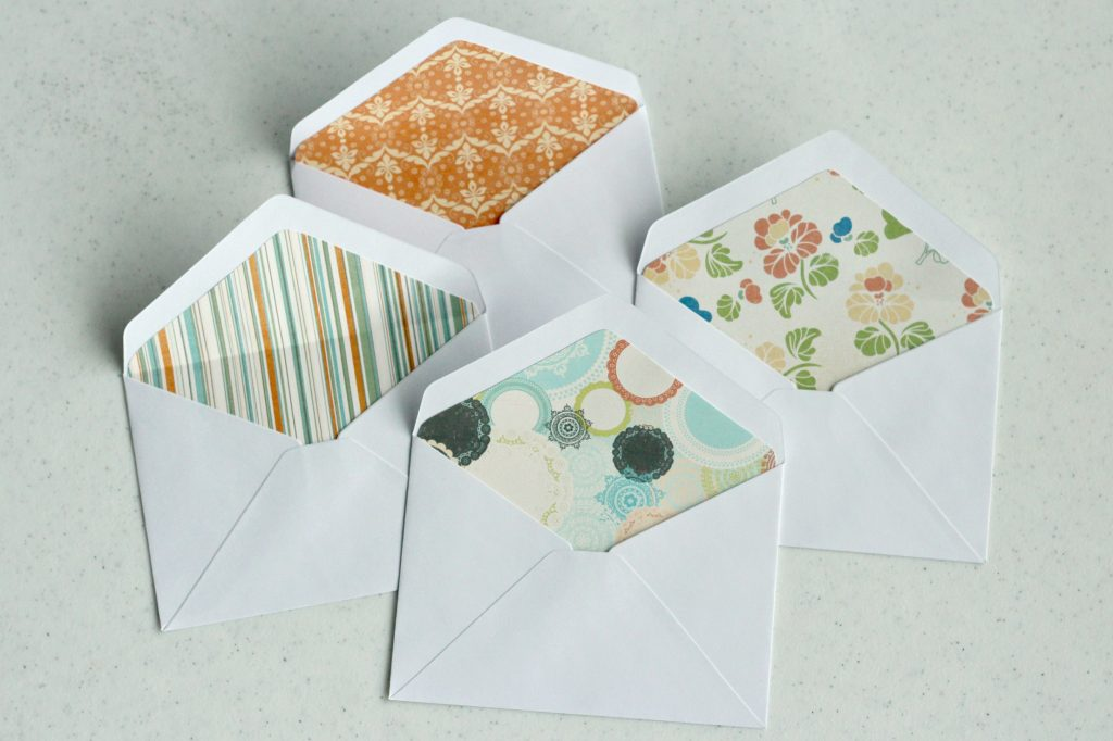envelope liners inserted