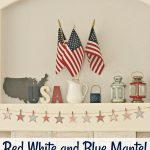 Red White and Blue Mantel
