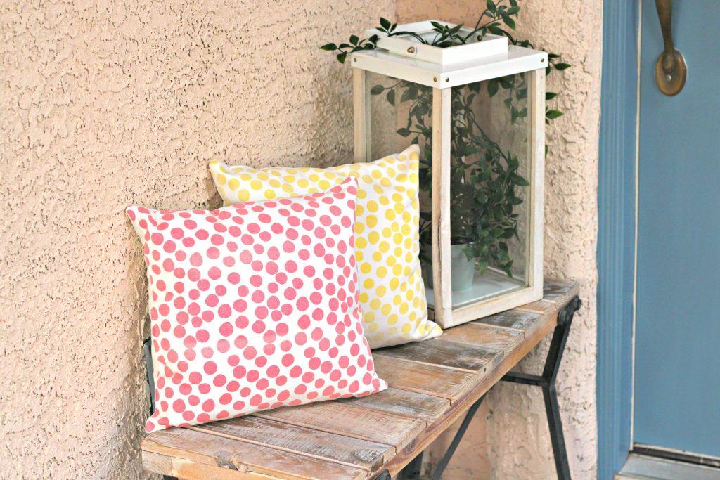 Spring Summer Front Porch pillows