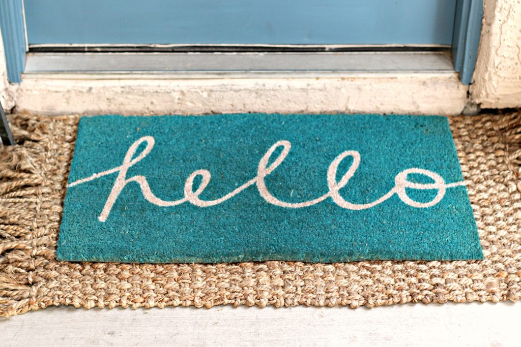 Spring Summer Front Porch welcome mat