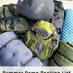 Summer Camp Packing List and Tips