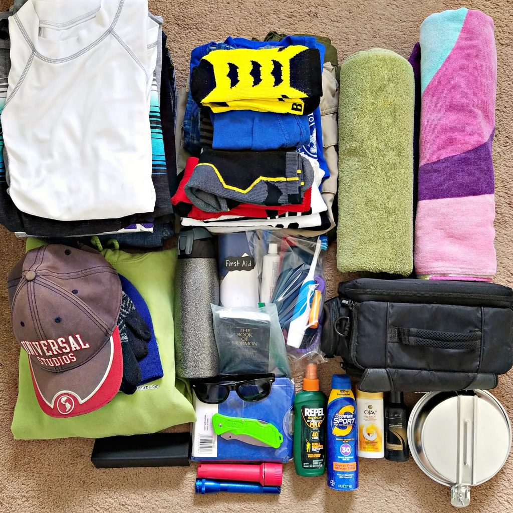 Basic Summer Camp Packing List